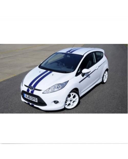 Aufkleber passend für Ford Fiesta Rennstreifen Racing Stripes Aufkleber Satz S1600 Limited Edition