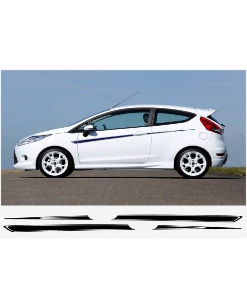 Aufkleber passend für Ford Fiesta S1600 Seitenaufkleber 2Stk. Satz 3-Türer