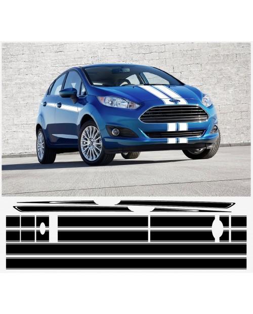 Aufkleber passend für Ford Fiesta S1600 Seitenaufkleber 6Stk. Satz 3-Türer