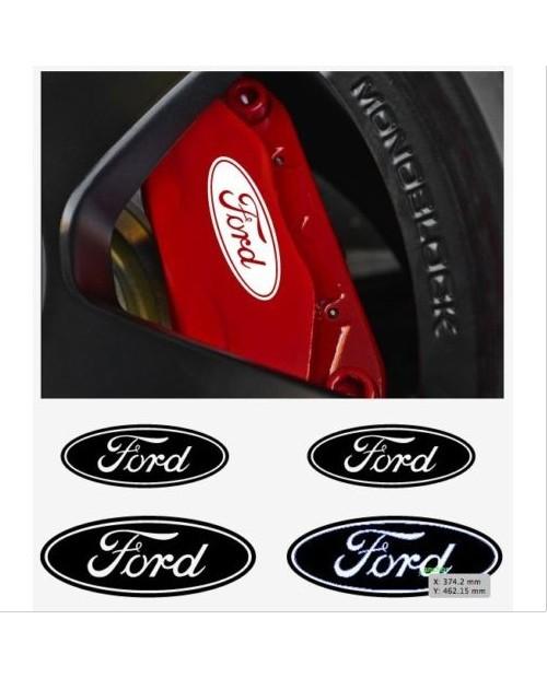 Aufkleber passend für Ford Fenster- Bremssattel- Spiegel Aufkleber - 4 Stück im Set