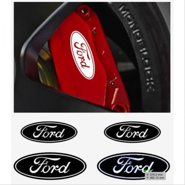 Decal to fit Ford window- brake caliper- mirror decal - 4 pcs in Set
