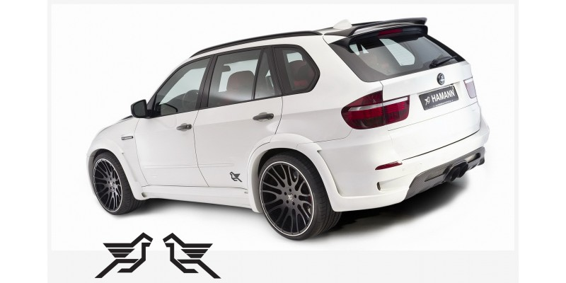 Decal to fit Hamann side decal 2 pcs. 20 cm