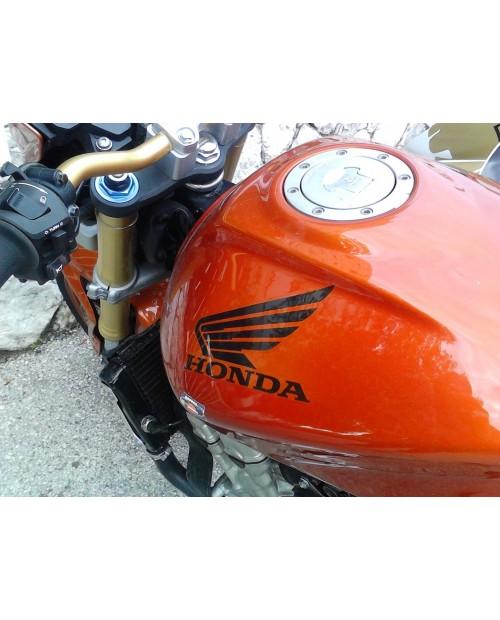 Aufkleber passend für Honda Motorrad Seitenaufkleber Aufkleber Satz 2 Stk. Tankaufkleber Flügel