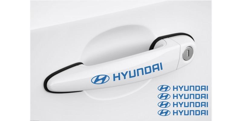 Decal to fit Hyundai Door handle decal 4pcs, set 120mm