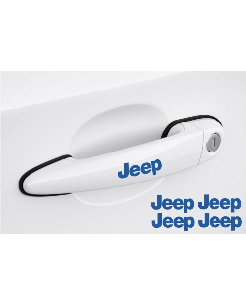 Decal to fit Jeep Door handle decal 4pcs, set 80mm