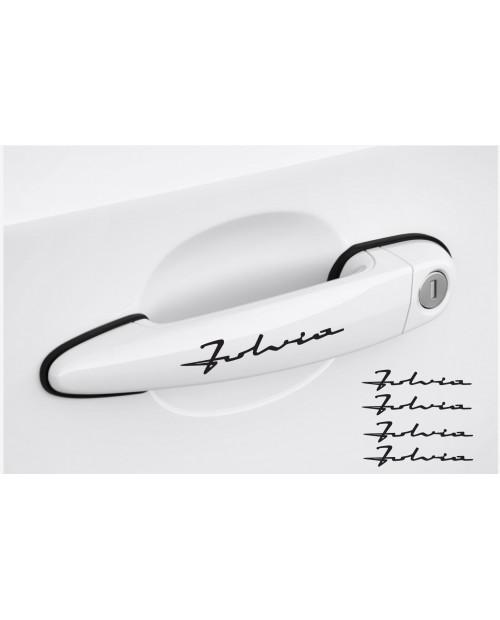 Aufkleber passend für Lancia Fulvia Türgriff Aufkleber 4Stk, Satz 120mm