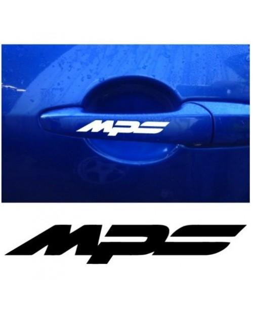 Aufkleber passend für Mazda MPS Türgriff Aufkleber 4 Stk.