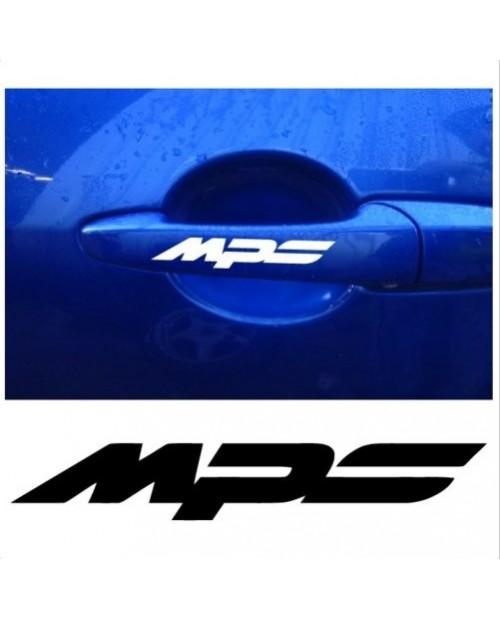 Aufkleber passend für Mazda MPS Türgriff Aufkleber 4 Stk. Satz 92mm