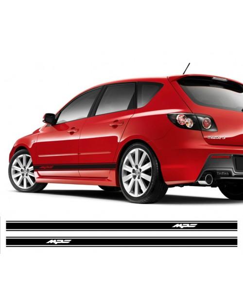 Aufkleber passend für Mazda MPS Seitenaufkleber Aufkleber Satz 2 Stk. 225cm