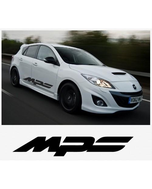 Aufkleber passend für Mazda MPS sport racing Seitenaufkleber Aufkleber Satz 1400mm