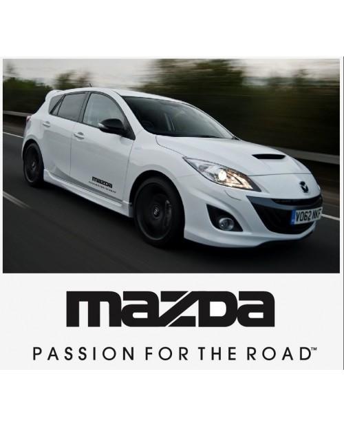 Aufkleber passend für Mazda Passion for the road Seitenaufkleber Aufkleber Satz 400mm