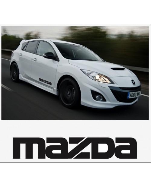 Aufkleber passend für Mazda Seitenaufkleber Aufkleber Satz 400mm