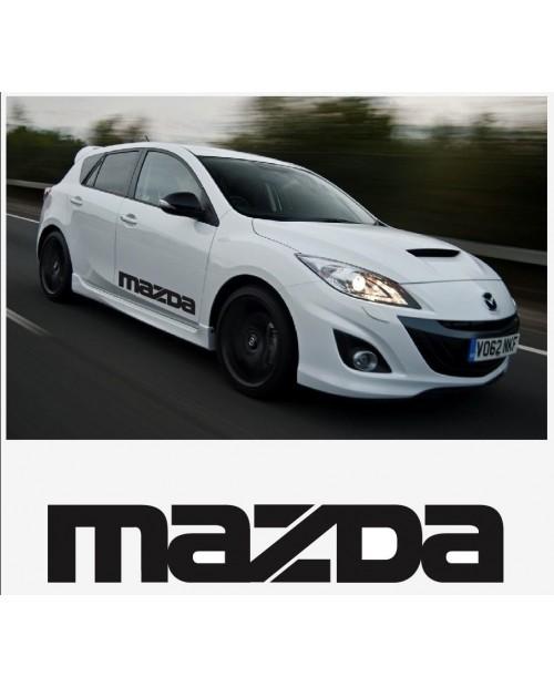 Aufkleber passend für Mazda Seitenaufkleber Aufkleber Satz 800mm