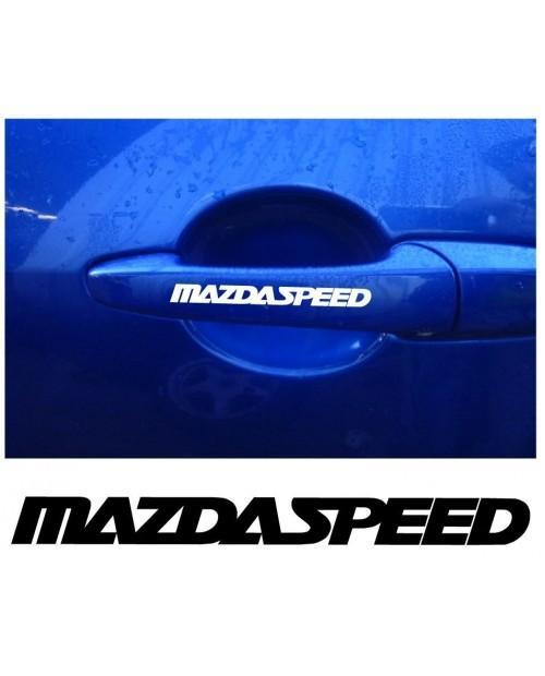 Aufkleber passend für Mazda Speed Türgriff Aufkleber 4 Stk.