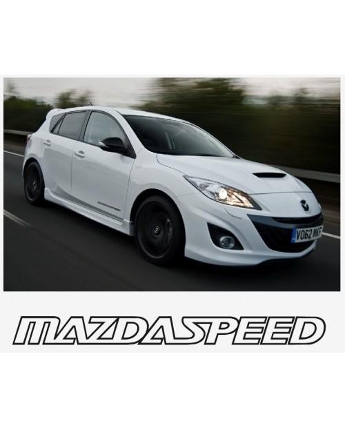 Aufkleber passend für Mazda Speed Seitenaufkleber Aufkleber Satz 400mm