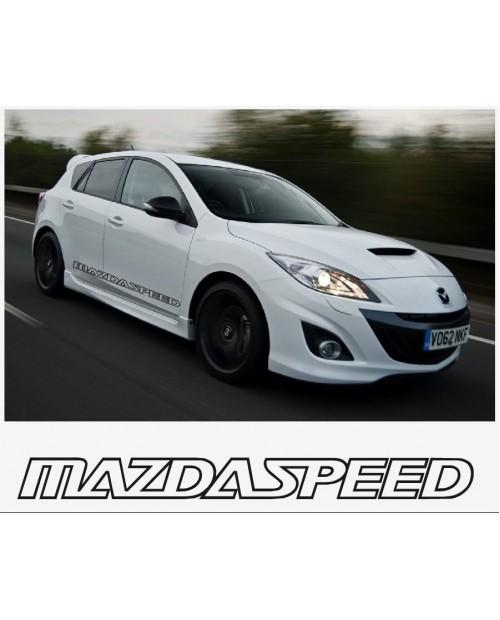 Aufkleber passend für Mazda Speed sport racing Seitenaufkleber Aufkleber Satz 1400mm