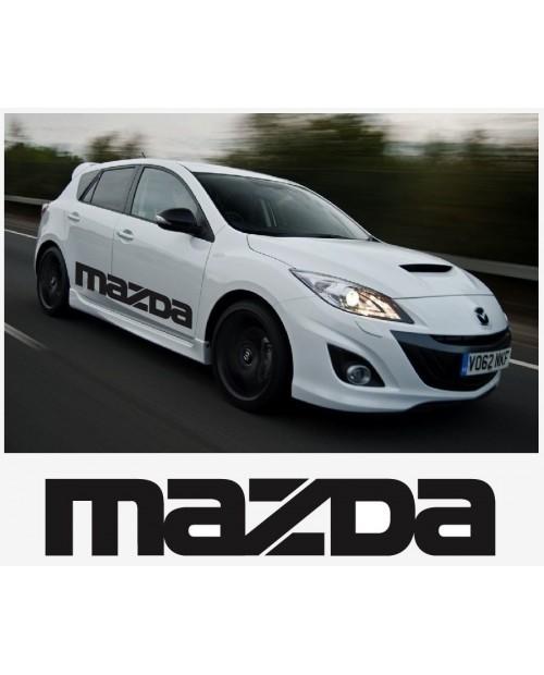 Aufkleber passend für Mazda sport racing Seitenaufkleber Aufkleber Satz 1400mm