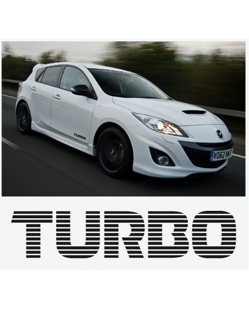 Aufkleber passend für Mazda Turbo Seitenaufkleber Aufkleber Satz 200mm