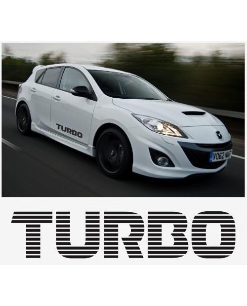 Aufkleber passend für Mazda Turbo Seitenaufkleber Aufkleber Satz 800mm