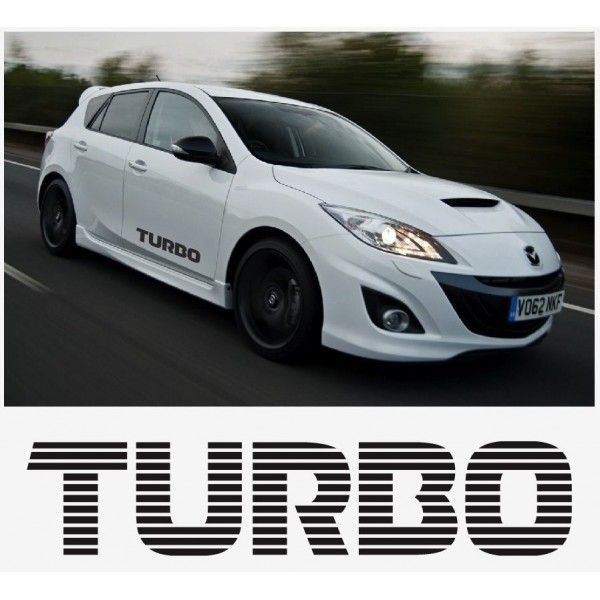 Decal to fit Mazda Turbo side decal set 800mm