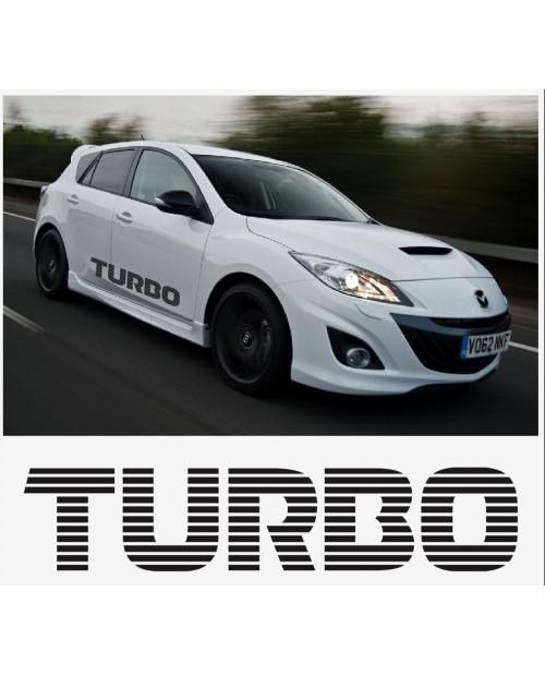 Aufkleber passend für Mazda Turbo sport racing Seitenaufkleber Aufkleber Satz 1400mm