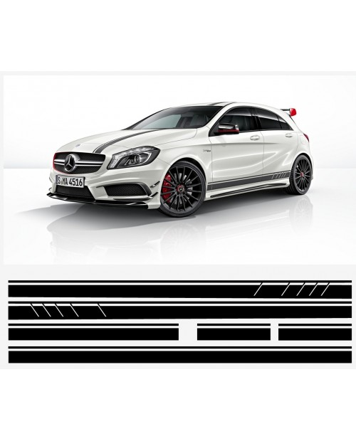 Aufkleber passend für Mercedes A AMG 1st edition Viper streifen Komplet Satz