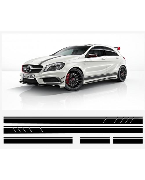 Aufkleber passend für Mercedes A AMG 1st edition Viper streifen Seitenaufkleber