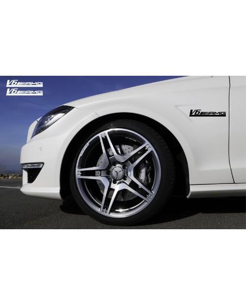 Aufkleber passend für Mercedes AMG V12 Seitenaufkleber 200mm