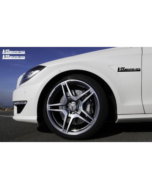 Aufkleber passend für Mercedes AMG V6 Seitenaufkleber 200mm