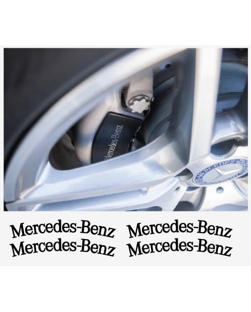 Aufkleber passend für Mercedes Benz Felgen- Fenster- Bremssattel- Spiegel Aufkleber 4 Stk. 107mm+87mm
