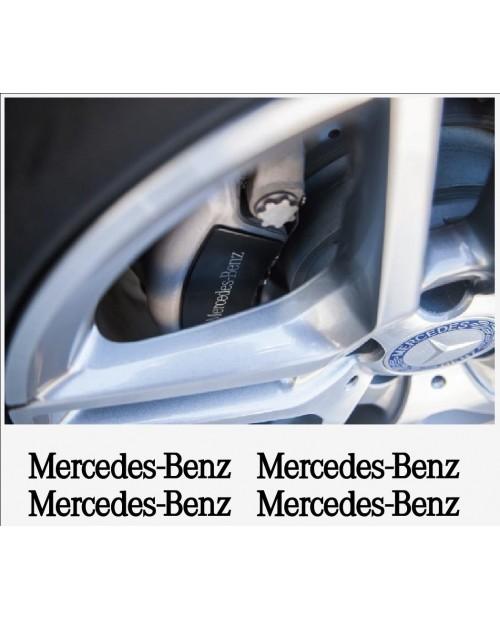 Aufkleber passend für Mercedes Benz Felgen- Fenster- Bremssattel- Spiegel Aufkleber 4 Stk. 110mm