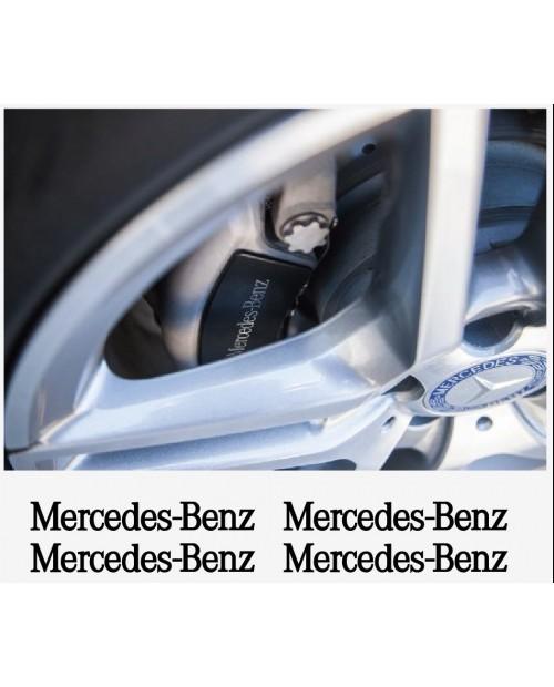 Aufkleber passend für Mercedes Benz Felgen- Fenster- Bremssattel- Spiegel Aufkleber 4 Stk. 80mm