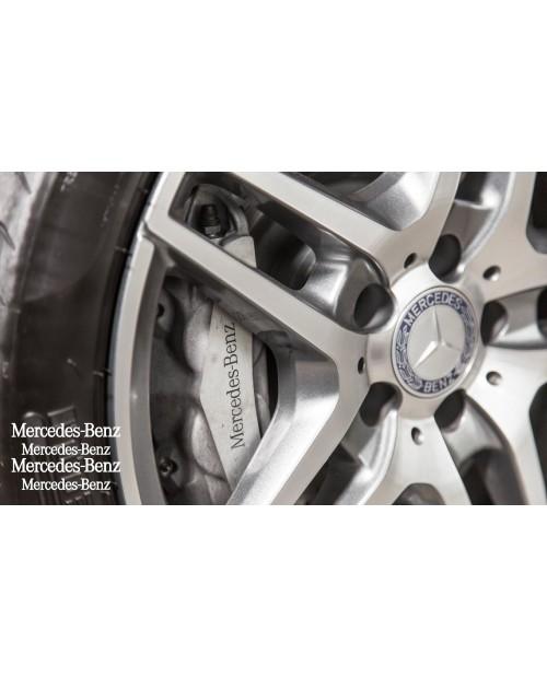 Aufkleber passend für Mercedes Bremssattel Felgen Spiegel Fenster Aufkleber 110mm 87mm