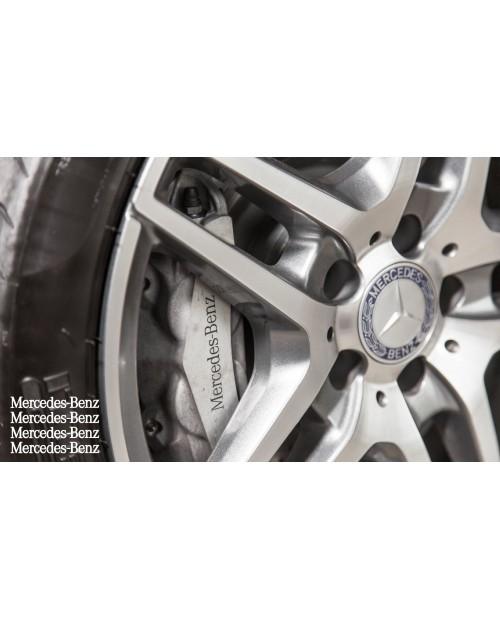 Aufkleber passend für Mercedes Bremssattel Felgen Spiegel Fenster Aufkleber 4 Stk. 87mm