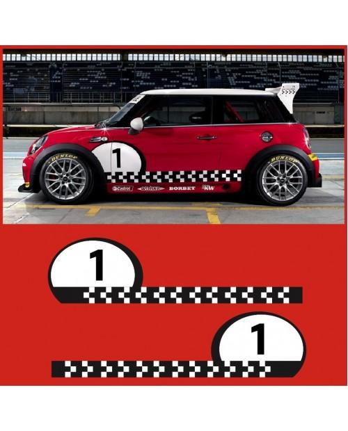 Aufkleber passend für MINI Challenge Cooper S Seitenaufkleber Schriftzug Aufkleber Satz Racing Race