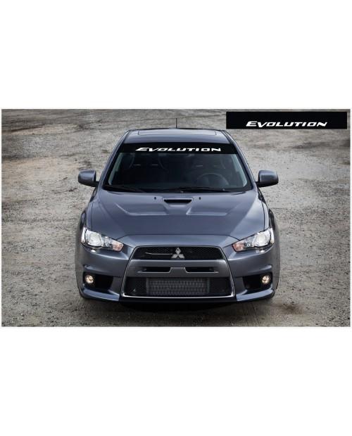 Aufkleber passend für Mitsubishi Evolution Frontscheibe Aufkleber 1400mm