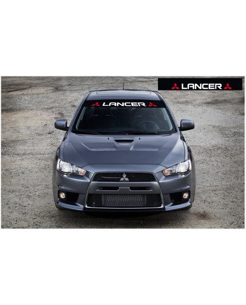 Aufkleber passend für Mitsubishi Lancer Evolution X Frontscheibe Aufkleber 1400mm