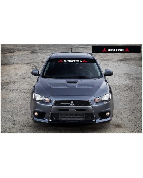 Aufkleber passend für Mitsubishi Motorsport Frontscheibe Aufkleber 1400mm