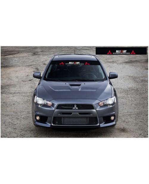 Aufkleber passend für Mitsubishi Ralli Art Frontscheibe Aufkleber 1400mm v,2