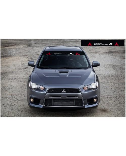 Aufkleber passend für Mitsubishi Frontscheibe Aufkleber 1400mm
