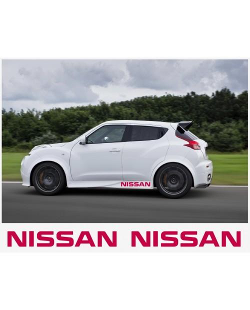 Aufkleber passend für Nissan Juke Nismo motorsport Seitenaufkleber Aufkleber 60 cm 2Stk.
