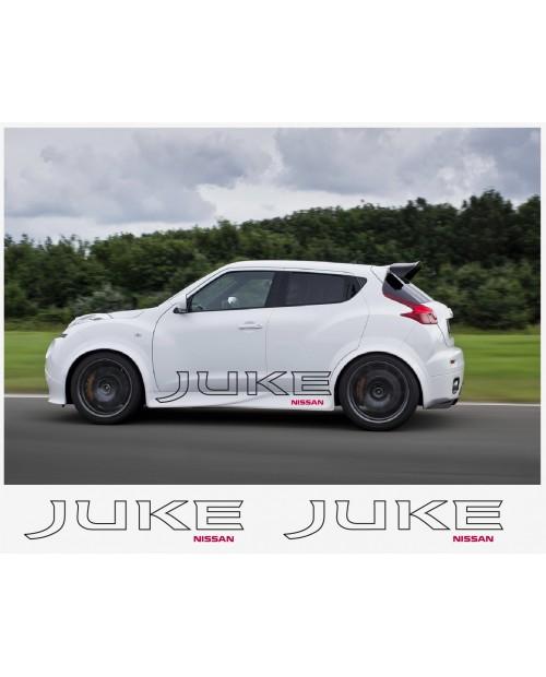 Aufkleber passend für Nissan Juke Nismo motorsport Seitenaufkleber Aufkleber 150 cm 2Stk.