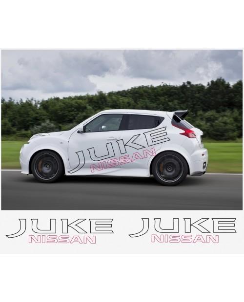 Aufkleber passend für Nissan Juke Nismo motorsport Seitenaufkleber Aufkleber 180 cm 2Stk.