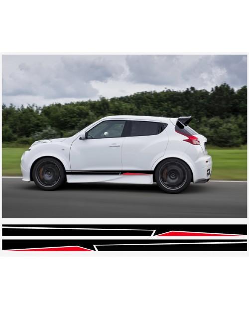 Aufkleber passend für Nissan Juke Nismo motorsport Seitenaufkleber Aufkleber 190 cm 2Stk.