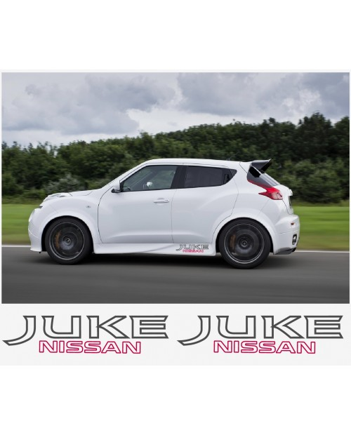 Aufkleber passend für Nissan Juke Nismo motorsport Seitenaufkleber Aufkleber 50 cm 2Stk.
