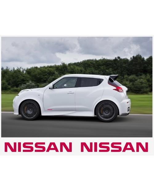 Aufkleber passend für Nissan Nismo motorsport Seitenaufkleber Aufkleber 20 cm 2Stk.