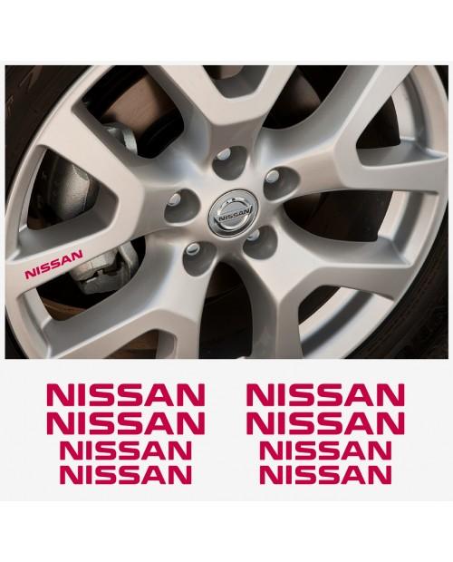 Aufkleber passend für Nissan Felgen- Fenster- Bremssattel- Spiegel Aufkleber – 4+4 Stück im Set