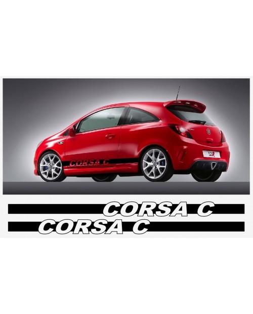Aufkleber passend für Opel Corsa Seitenaufkleber Aufkleber