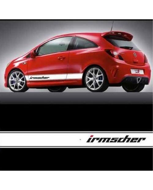 Aufkleber passend für Opel Irmscher Seitenaufkleber Aufkleber