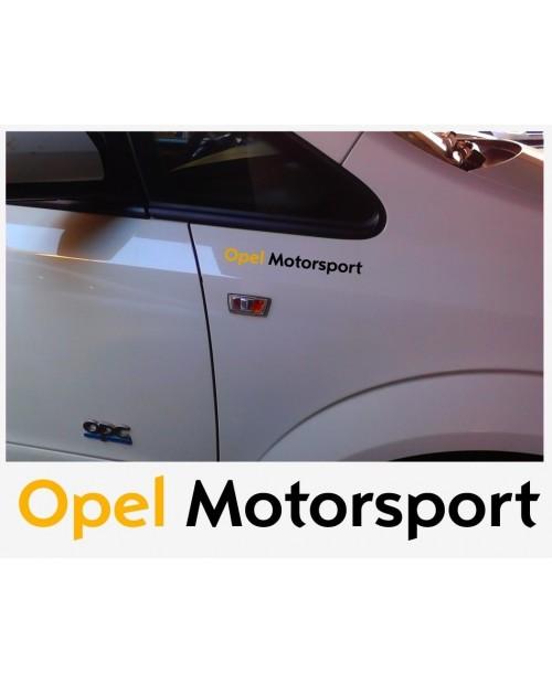 Aufkleber passend für Opel Motorsport Seitenaufkleber Aufkleber 22cm 2 Stk.